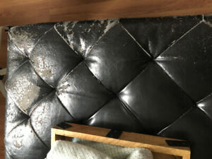 Leather ottoman with lots of storage