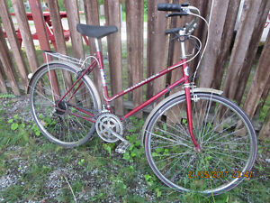 RETRO 10 SPEED BICYCLE 1970S TOWN BIKE COOL TOWNIE RIDE SHIMANO