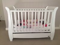 Tutti bambini drop side cot/bed
