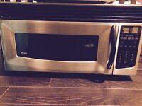 Stainless steel microwave range hood