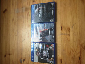 PS4 games for sale. STILL SEALED