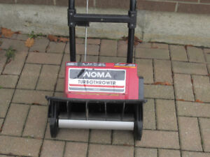Used Noma Turbo Electric Snowblower/snow thrower &2 Snow shovels