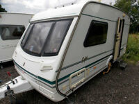 Abbey Safari 470 ET 2000 2 Berth Lightweight Touring Caravan End Washroom