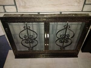 Fire place cover doors