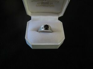 MEN WHITE GOLD RING