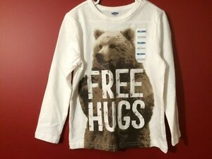 "Old Navy ""Free Hugs"" Long Sleeved T-shirt - Size 5T - Brand new!"