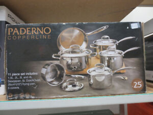 Paderno Copperline 11-piece cookset