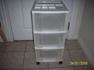 3 drawer storage on wheels,27 inches high