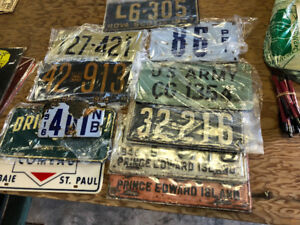 WANTED: Old, rare, unique License Plates, CASH PAID