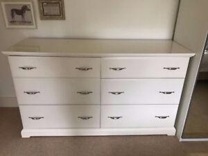 White Ikea Birkeland 6 Drawer Dresser Chest