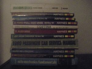 11 Automotive Repair Manuals.