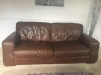 Italian leather 3 + 2 seater sofa