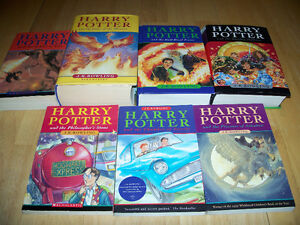 Complete Lot of 7 Harry Potter Books - J K Rowling