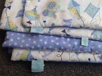 Baby Boy Clair de Lune cot bumper & blanket set