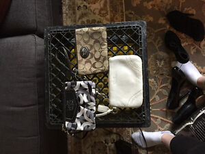 Several authentic coach wallets