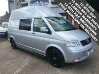 VW TRANSPORTER LWB 2.5 TDI 130BHP T5 HI ROOF CAMPER / MOTOHOME WITH AIR CON @SVS