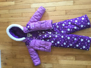 Size 24 month winter jacket, matching snow pants and boots