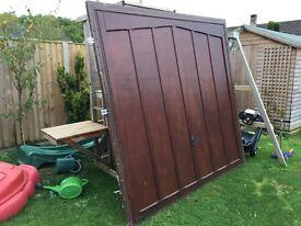 Garage door complete.
