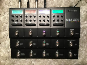 LINE6 M13 STOMPBOX MODELER ALL IN ONE PEDAL BOARD MINT MINT CON.