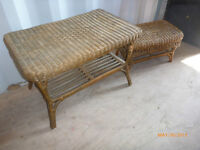 2 small wicker tables, free delivery