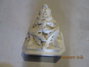 old church wall sconce plaster ,surface size 13''x17''