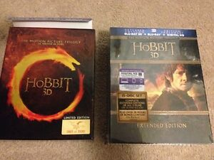 The Hobbit 3D blu ray dvd trilogy Journey Smaug Five Armies