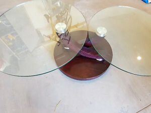Italian Glass, Wood and Steel Coffee Table Kitchener / Waterloo Kitchener Area image 2