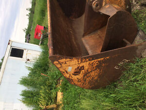 Case  backhoe snow bucket, ditching bucket , and snow plow