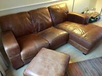 DFS Italian leather corner sofa RRP £2k+