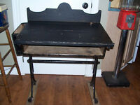 Antique School Desk With Cast Iron Legs It is 29 and a half inch