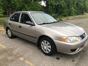 2002 Toyota  Corolla  CERTIFIED  READY TO GO