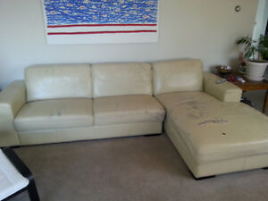 Leather Sectional $100 OBO
