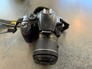 Nikon D3400 DSLR Black Camera with 18-55mm and 70-300mm Lenses