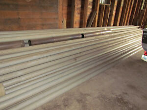 """""""Irrigation Pipes and Custom-built Pipe Hauling Trailer"""""""