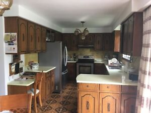 SOLID OAK Kitchen Cabinets for sale by owner