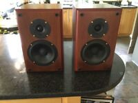 RUARK SABRE CHERRYWOOD VINTAGE SPEAKERS. FAB CONDITION.