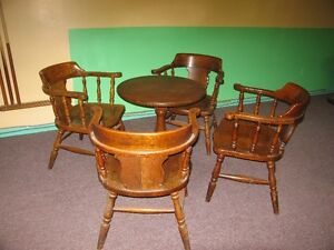 Tables and chairs  Solid Oak St. John's Newfoundland image 1
