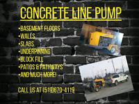 Concrete Line Pump Services
