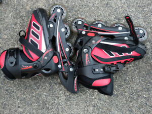 Rollerblade and pad set