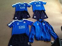 Leicester city players training kits