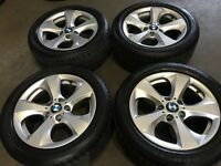 "17"" BMW alloy wheels alloys rims tyres tyre 5x120 vw Volkswagen transporter t5 bargain"