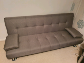 Grey Small Double Sofa Bed