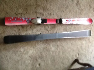 Head 127cm skis and bindings