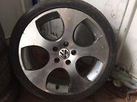"""Mk5/6 VW golf gti 18""""alloy wheel &tyre"""