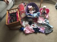Dolls clothes and accessories £15