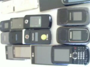 For sale,large assortment of assorted cell phones