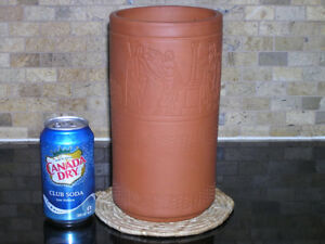 Unused Terracotta Clay Wine Ice Bucket Cooler