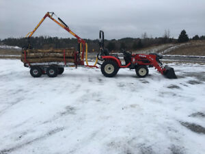 Branson / Kranman  package Tractor with Log trailer 314.00/month