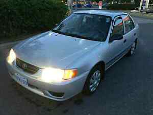 2001 toyota corolla CE with Safetied&Etested Mint NO RUST