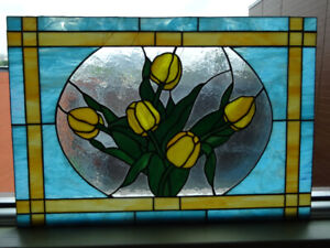Stained glass with accessories